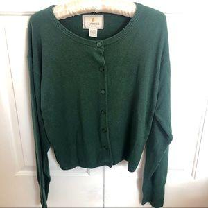 Express tricot hunter green long sleeve cardigan